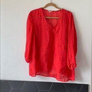 Eileen Fisher-Women's Red Linen Tunic